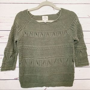 St. John's Bay Sweater, woman color green